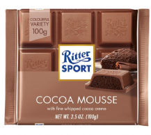 Ritter Sport Cocoa Mousse Milk Chocolate Bar 100g